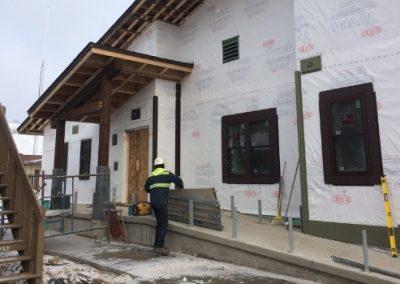Construction Rear Entrance